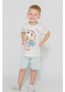pijama curto infantil masculino turma monica naturla evanilda 61040010