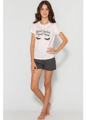 pijama curto juvenil feminino good mood rosa evanilda 50010027