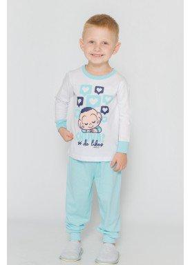 pijama longo infantil masculino turma monica branco evanilda 41040014