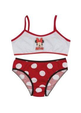 conjunto top e calcinha infantil feminino minnie branco evanilda 22030007