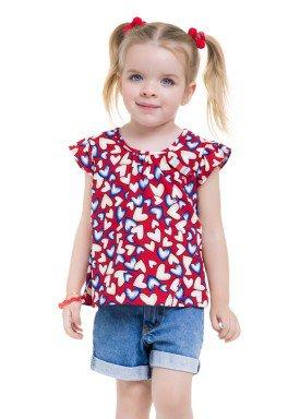 blusa meia malha infantil feminina coracoes vermelho brandili 24748 1