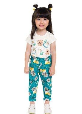 conjunto blusa e calca infantil feminino happiness natural brandili 24750 1