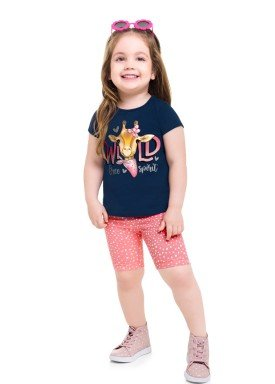 conjunto blusa e ciclista infantil feminino wild marinho brandili 24772 1