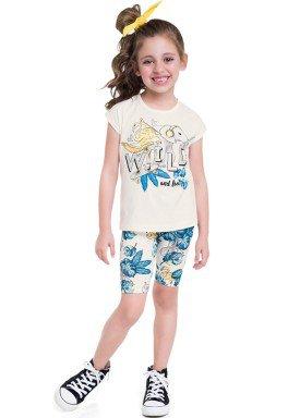 conjunto blusa e ciclista infantil feminino wild natural brandili 24816 1