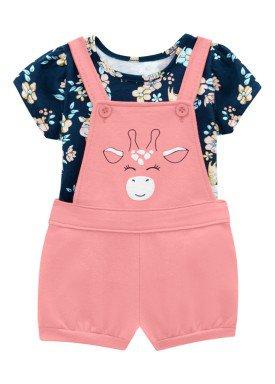 conjunto blusa e jardineira bebe feminino girafa marinho brandili 24695 1