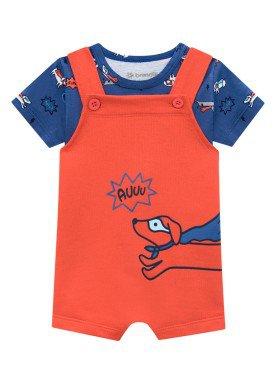 conjunto blusa e jardineira bebe masculino auuu laranja brandili 24713 1