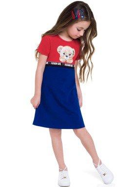 vestido cotton infantil feminino fashion girl vermelho brandili 24791 1