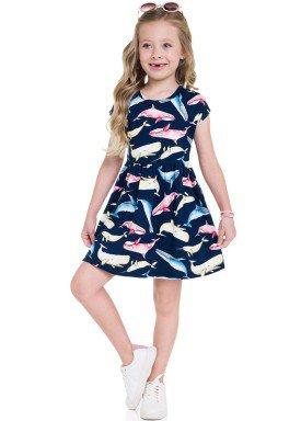 vestido meia malha infantil feminino baleias marinho brandili 24787 1