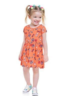 vestido meia malha infantil feminino doces laranja brandili 24721 1