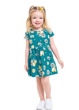 vestido meia malha infantil feminino lemons azul brandili 24753 1