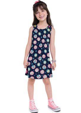 vestido meia malha infantil feminino patinhas marinho brandili 24723 1