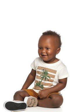 conjunto camiseta e bermuda bebe masculino tropical natural elian 20906 1