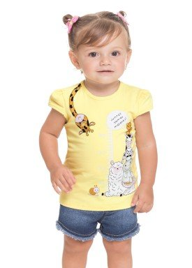 blusa cotton bebe feminina animais amarelo alenice 41248 1