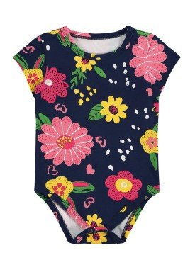 body cotton bebe feminino flores marinho alenice 41236