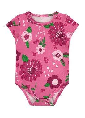 body cotton bebe feminino flores rosa alenice 41236