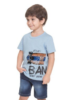 camiseta meia malha infantil masculina skate azul alenice 44568 1
