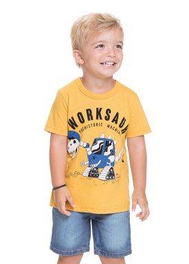 camiseta meia malha infantil masculina worksaur amarelo alenice 44561 1