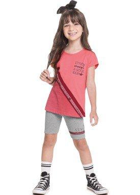 conjunto blusa e ciclista infantil juvenil feminino style salmao alenice 47253 1