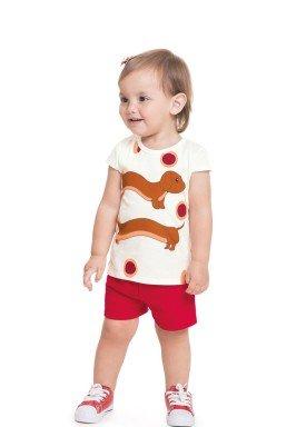 conjunto blusa e short bebe feminino doguinho natural alenice 41245 1