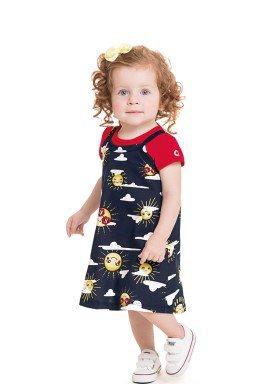 conjunto blusa e vestido bebe feminino solzinho marinho 41259 1