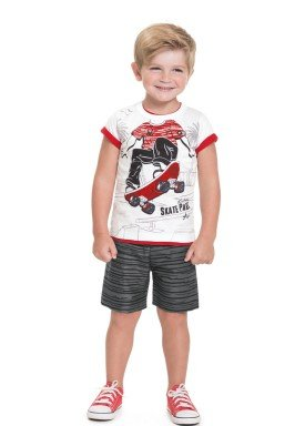 conjunto camiseta e bermuda infantil masculina skate park branco alenice 44565 1