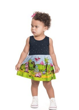 vestido meia malha bebe feminino dinos petroleo alenice 41250 1