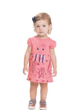 vestido meia malha bebe feminino jellyfish rosa 41252 1