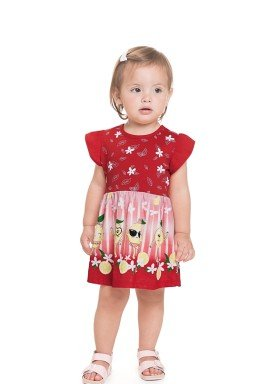vestido meia malha bebe feminino lemons vermelho 41251 1