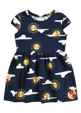 vestido meia malha bebe infantil feminino solzinho marinho alenice 41241