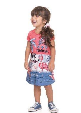 vestido meia malha infantil feminino tropicool rosa alenice 44605 1
