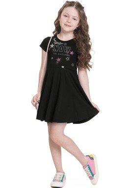 vestido meia malha infantil juvenil feminino begin now preto alenice 47250 1