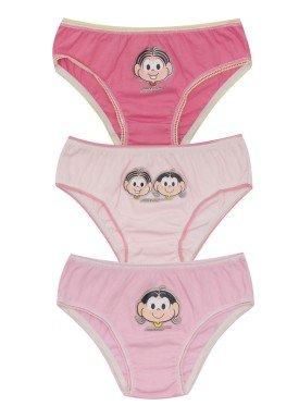 kit calcinha 3pc s infantil feminina turma monica evanilda 01040073
