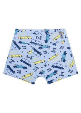 cueca boxer infantil masculina carros azul upman mini 367c5