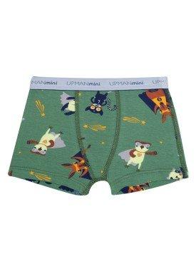 cueca boxer infantil masculina animais herois verde upman mini 361c5
