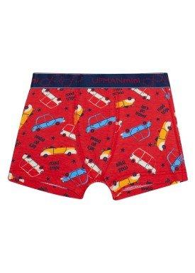cueca boxer infantil masculina carros vermelho upman mini 361c5