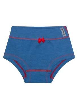 calcinha infantil feminina azul jeans upman mini 464c1