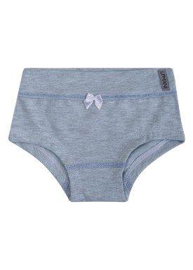 calcinha infantil feminina mescla azul upman mini 464c1