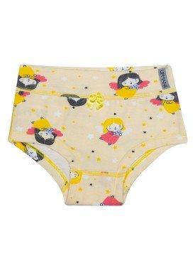 calcinha infantil feminina anjinhos amarelo upman mini 464c5