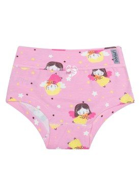 calcinha infantil feminina anjinhos rosa upman mini 464c5