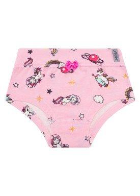 calcinha infantil feminina unicornio rosa upman mini 464c5