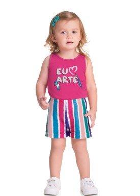 conjunto regata e short bebe infantil feminino arte rosa brandili 34801 1