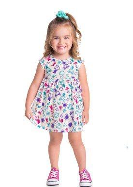 vestido meia malha bebe infantil feminino estampado natural brandili 34803 1