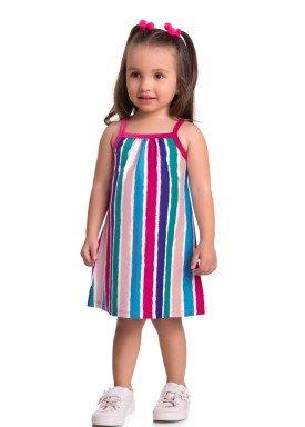 vestido meia malha bebe infantil feminino listras rosa brandili 34802 1