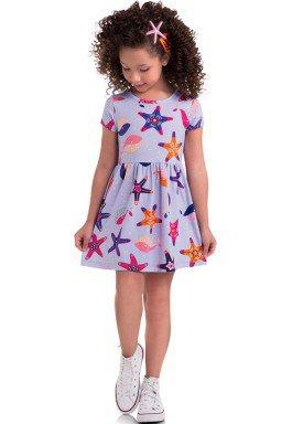 vestido meia malha infantil feminino estrela do mar lilas brandili 34668 1
