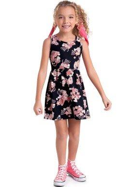 vestido meia malha infantil feminino video game preto brandili 34669 1