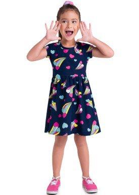 vestido meia malha infantil juvenil feminino coracao cadente marinho brandili 34814 1