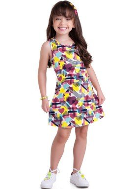 vestido meia malha infantil juvenil feminino coracoes marinho brandili 34813 1