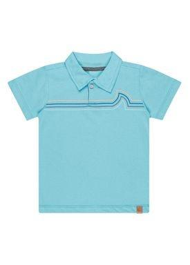 camisa polo meia malha infantil masculina waves azul kamylus 12141