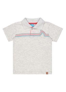 camisa polo meia malha infantil masculina waves mescla kamylus 12141